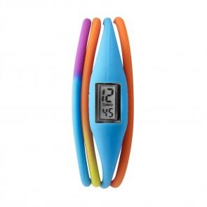 Unisex Breo Roam Twist Blue Multi Colour Digital Wrist Watch Ladies Mens