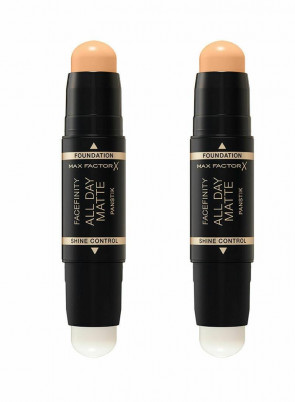 MAX FACTOR LADIES WOMENS FACEFINITY ALL DAY PAN STIK WARM BEIGE 62 2 PACK