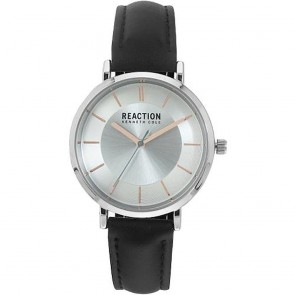 Kenneth Cole Reaction Silver & Black Mens Womens Unisex Wrist Watch RK50105003