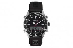 Kahuna Mens Gents Dual Time Black Dial Watch AKUV-0008G