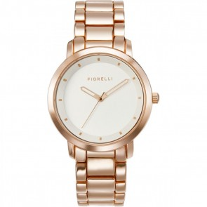 Fiorelli Ladies Watch Gold Bracelet White Dial FO044RGM