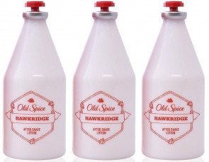 Old Spice Mens Gents Hawkridge Aftershave Lotion 100ml 3 Pack