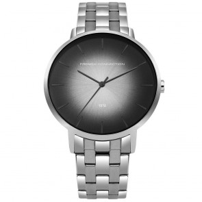 French Connection Silver Black Mens Gents Wrist Watch  FC1306BM