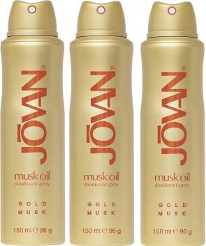 Jovan Ladies Womens 150ml Musk Oil Deodorant Spray 3 Pack
