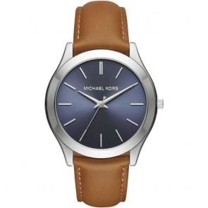 Michael Kors Slim Runway  Blue & Brown Mens Gents Wrist Watch MK8508