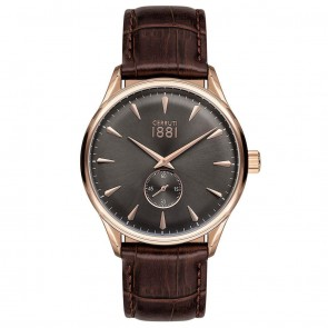 Cerruti 1881 Mens Gents Brown & Gold Designer Wrist Watch CRA24003