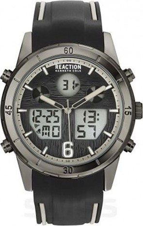 Kenneth Cole Reaction Black & Grey Mens Gents Wrist Watch RK50604004