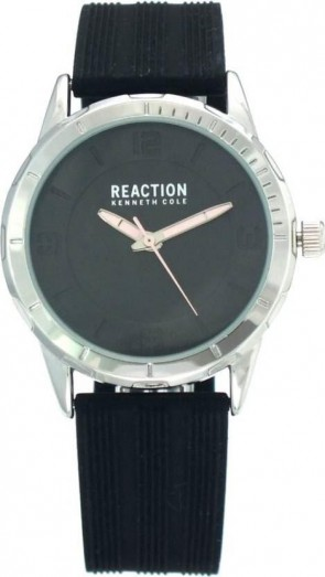 Kenneth Cole Reaction Black & Silver Ladies Womens Wrist Watch RK50106001