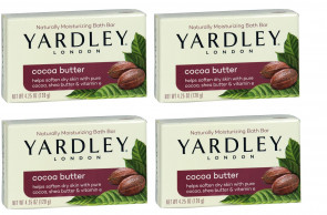 Yardley Mens Womens 120g Cocoa Butter Soap 4 Pack