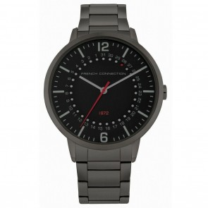 French Connection Grey Silver Mens Gents Wrist Watch FC1277BM