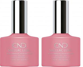 CND Shellac Luxe Ladies Womens Nail Polish Varnish Rose Bud 2 Pack