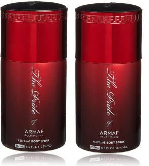 ARMAF Ladies Womens The Pride Of Armaf Red Deodorant Body Spray 250ml 2 Pack