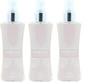 Madonna Ladies Womens 100ml Goddess Body Mist 3 Pack