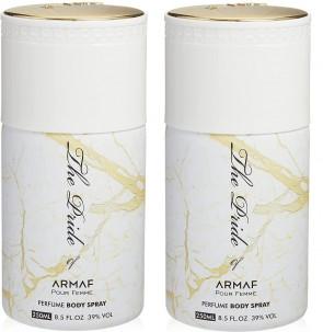 Armaf Ladies Womens The Pride Of Armaf White Body Spray Deodorant 250ml 2 Pack