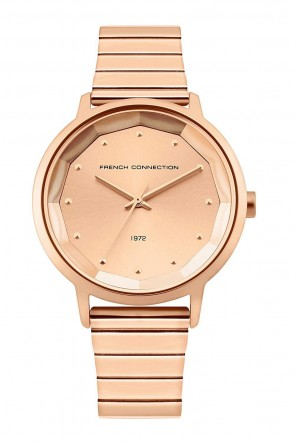 French Connection Rose Gold Ladies Womens Watch FC1325RGM