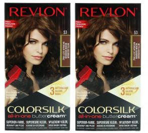 Revlon Ladies Womens Colorsilk Buttercream Lasting Color Medium Golden Brown Hair Colour 2 Pack