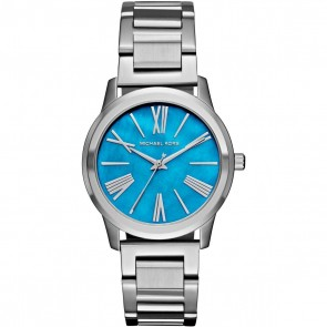 Michael Kors Ladies Womens Hartman Capri Chic Blue Face Watch MK3519