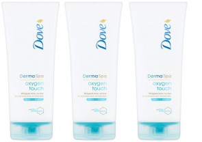 Dove Ladies Womens Derma Spa Oxygen Touch Body Lotion 200ml 3 Pack
