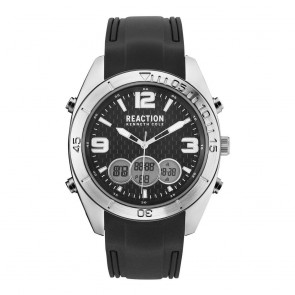 Kenneth Cole Reaction Black & Silver Mens Gents Wrist Watch RK50599003