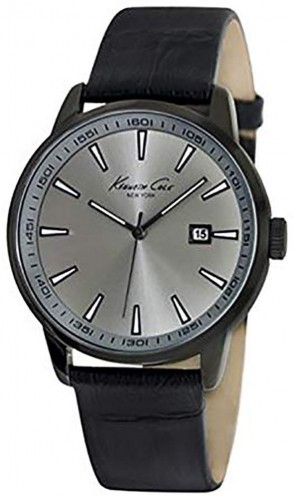 Kenneth Cole Mens Gents Black Calf Skin Wrist Watch KC1913