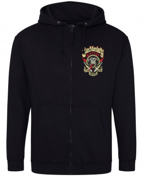 Gas Monkey Garage Spark Plugs Mens Gents Black Zip Hoodies