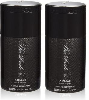 Armaf Mens Gents The Pride Of Armaf Black Body Spray 250ml 2 Pack
