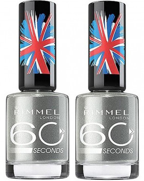 Rimmel London 60 Seconds Nail Polish Varnish 810 Precious Metal