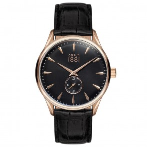 Cerruti 1881 Mens Gents Black & Gold Designer Wrist Watch CRA24002
