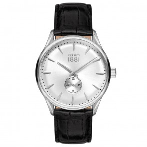 Cerruti 1881 Mens Gents Black & Silver Designer Wrist Watch CRA24005