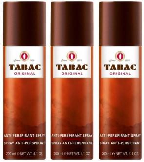 Tabac Mens Gents Original Anti Perspirant Deodorant Spray 200 ml 3 Pack