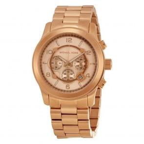 Michael Kors Ladies Runway Chronograph Watch Gold PVD Gold Dial MK8096