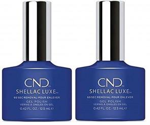 CND SHELLAC LUXE Ladies Womens Nail Polish Varnish Blue Eyeshadow 2 Pack