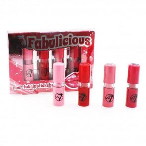W7 Fabulicious 4 Lipsticks Set