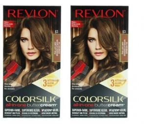 Revlon Ladies Womens Luxurious Colorsilk Buttercream Light Golden Brown 54G 2 Pack